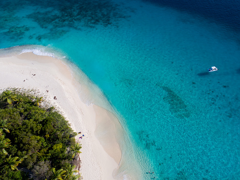 Snorkeling「aerial view of Sandy Cay, British Virgin Islands」:スマホ壁紙(1)