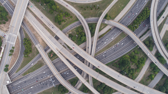 Crossroad「Aerial View of Spaghetti Junction in Atlanta, GA」:スマホ壁紙(18)