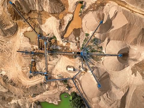 Quarry「Aerial view of crushed stone quarry machine」:スマホ壁紙(18)