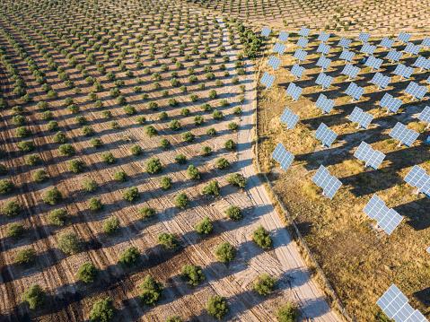 田畑「Aerial view of solar power station」:スマホ壁紙(12)