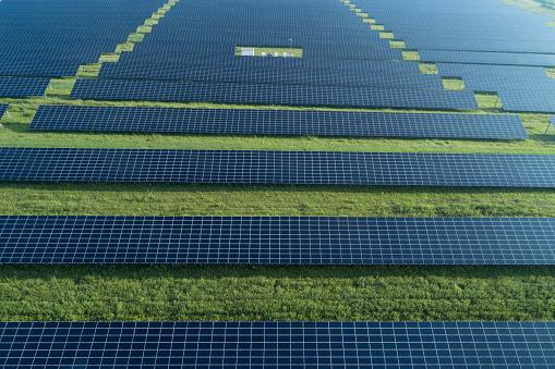 Generator「Aerial view of solar farm with solar panels. Bavaria, Germany.」:スマホ壁紙(9)
