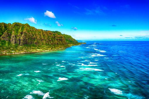オアフ島「ハワイ ・ オアフ島の航空写真」:スマホ壁紙(17)