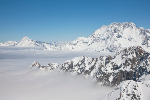 Mt Cook「Aerial view of Mt. Cook and the Southern Alps」:スマホ壁紙(4)