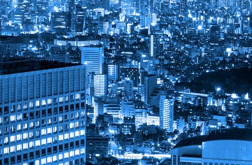 Shinjuku Ward「Aerial View of Shinjuku, Tokyo at Night」:スマホ壁紙(12)