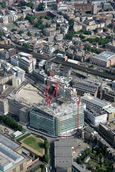 Construction Equipment「Aerial view of IPC new building, South East London」:写真・画像(1)[壁紙.com]