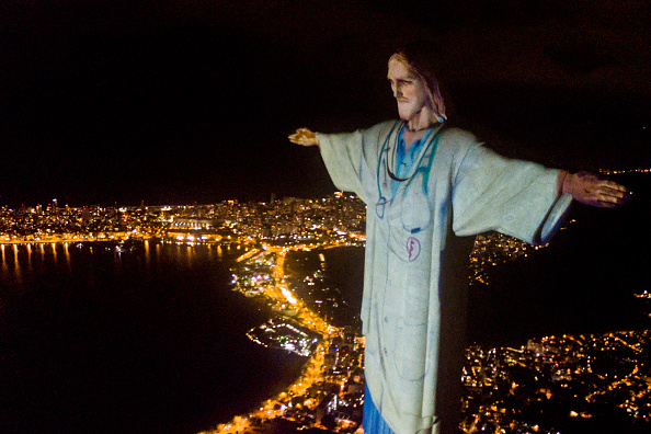 Religious Mass「Act of Consecration of Brazil and Tribute to Medical Workers at the Christ the Redeemer Amidst the Coronavirus (COVID - 19) Pandemic」:写真・画像(12)[壁紙.com]