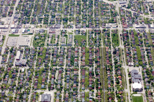 Boulevard「Aerial View of a Neighborhood Near Milwaukee Wisconsin」:スマホ壁紙(10)