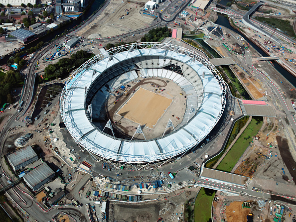 2012 Summer Olympics - London「Aerial view of the Olympic site, London, UK」:写真・画像(5)[壁紙.com]