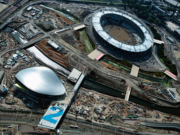 2012 Summer Olympics - London「Aerial view of the Olympic site, London, UK」:写真・画像(1)[壁紙.com]