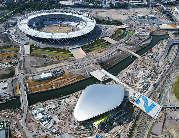 2012 Summer Olympics - London「Aerial view of the Olympic site, London, UK」:写真・画像(19)[壁紙.com]