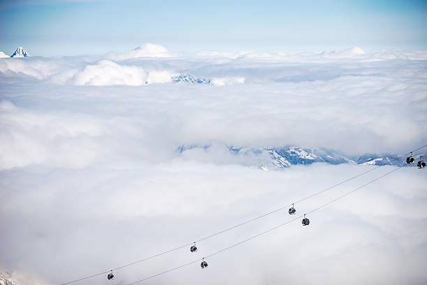 Aerial view of chairlifts, Kitzsteinhorn, salzburg, Austria:スマホ壁紙(壁紙.com)