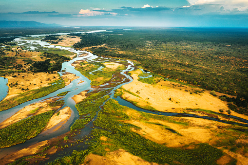 Drone Point of View「Aerial View over the Zambezi River, Zambia」:スマホ壁紙(6)