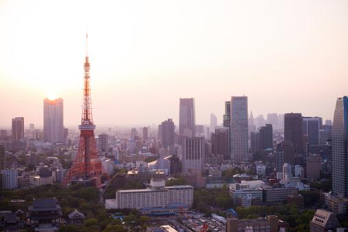和風「上空から見た東京」:スマホ壁紙(19)