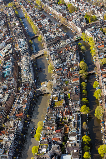 Amsterdam「Aerial view of the Old City Centre Amsterdam」:スマホ壁紙(13)