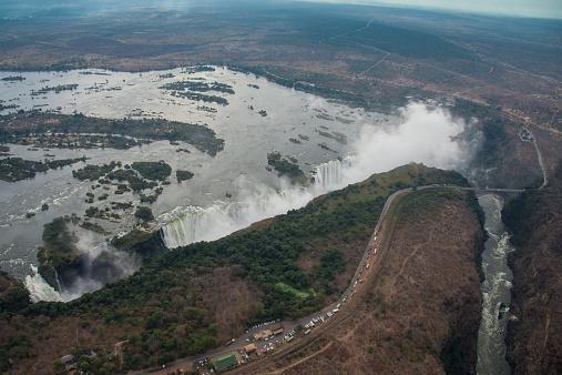 Victoria's Secret「Aerial view of Victoria Falls」:スマホ壁紙(1)