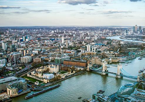 London Bridge - England「Aerial View of London」:スマホ壁紙(2)