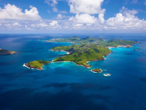 豪華 ビーチ「空から見たセント Barths 、フランス西インド諸島」:スマホ壁紙(7)