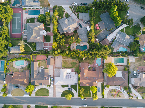 Bicycle Lane「Aerial View of Houses」:スマホ壁紙(9)