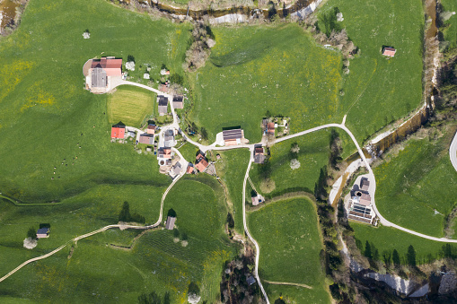 European Alps「Aerial view of Necker, Canton of St. Gallen, Switzerland」:スマホ壁紙(16)