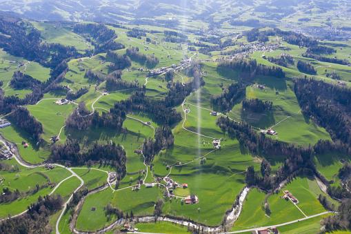 St Gallen Canton「Aerial view of Necker, Canton of St. Gallen, Switzerland」:スマホ壁紙(18)