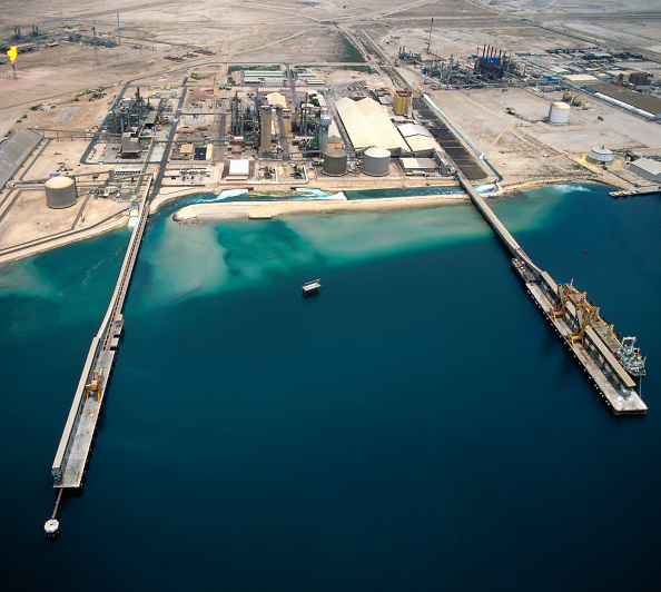 Qatar「Aerial view Harbour for Liquid Natural Gas refinery, Qatar」:写真・画像(5)[壁紙.com]