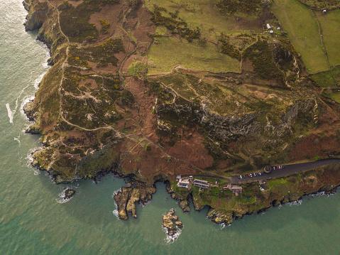 Dublin - Republic of Ireland「Aerial view of Howth Head, Dublin, Ireland.」:スマホ壁紙(17)