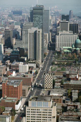 Boulevard「Aerial view of downtown Montreal, Canada」:スマホ壁紙(10)