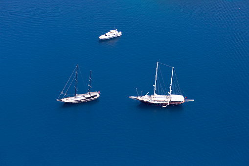 France「Aerial View of Luxury yachts」:スマホ壁紙(2)