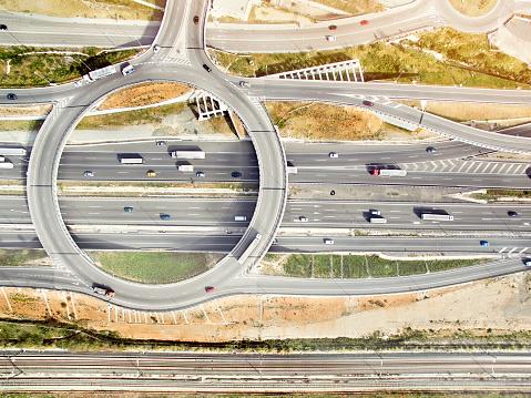 シリーズ画像「空から見た高速道路」:スマホ壁紙(17)