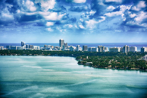 Miami Beach「マイアミ大都市圏の空撮」:スマホ壁紙(0)