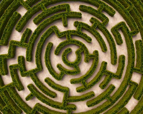 Leisure Games「Aerial view of circular hedge maze」:スマホ壁紙(10)