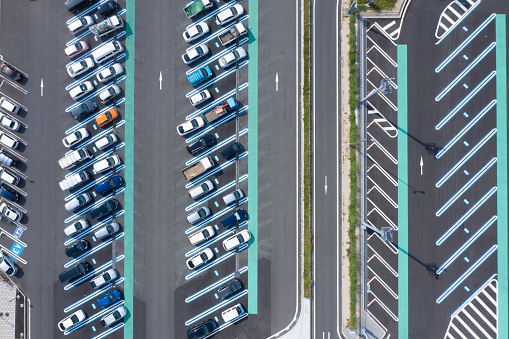 Car Dealership「Aerial view of the parking lot.」:スマホ壁紙(6)