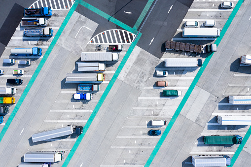 Car Dealership「Aerial view of the parking lot.」:スマホ壁紙(11)