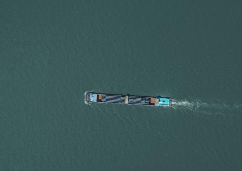 River「Aerial view of transport ship on river」:スマホ壁紙(10)