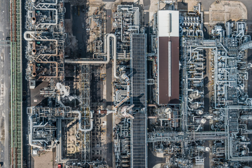 Chemical「Aerial view of refinery」:スマホ壁紙(1)