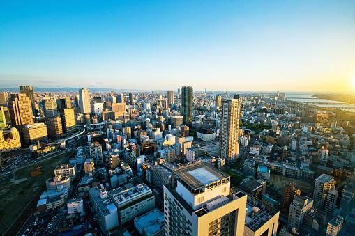 Japan「大阪市の航空写真」:スマホ壁紙(7)