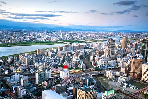 Japan「大阪市の航空写真」:スマホ壁紙(6)