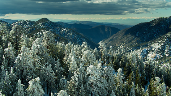 Angeles National Forest「Aerial View Looking Northwest Across the San Gabriel Mountains from the Angeles Crest」:スマホ壁紙(14)