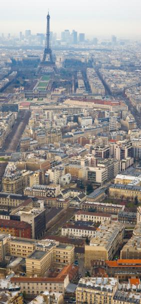 Boulevard「Aerial View of Paris and Eiffel Tower」:スマホ壁紙(15)