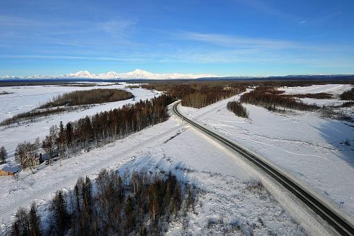 Railway「Aerial view of Denali from Talkeetna, Alaska」:スマホ壁紙(4)