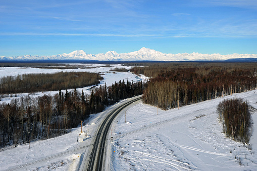 Railway「Aerial view of Denali from Talkeetna, Alaska」:スマホ壁紙(3)
