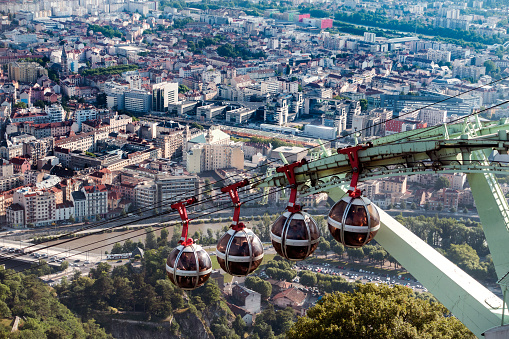 Cable Car「Aerial view of Grenoble France」:スマホ壁紙(14)