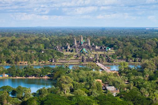 Cambodian Culture「Aerial views over the ruins of Angkor Wat」:スマホ壁紙(1)