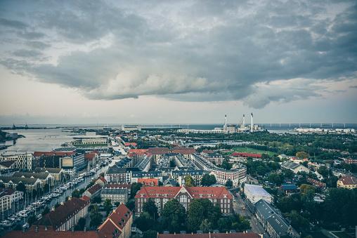 Danish Culture「Aerial View Of Copenhagen Suburbs」:スマホ壁紙(14)