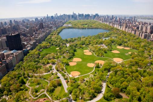 Puddle「Aerial View Central Park, Manhattan, New York, USA」:スマホ壁紙(14)