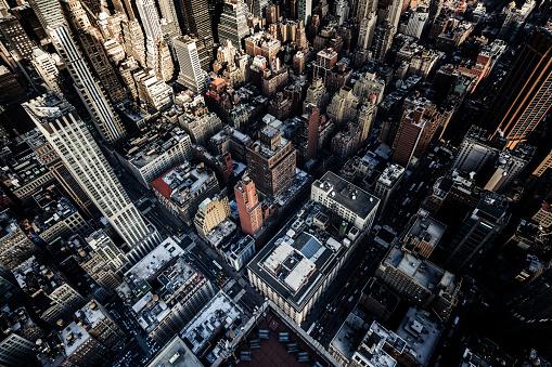 Shadow「Aerial View of Skyscrapers in Manhattan, NYC」:スマホ壁紙(7)