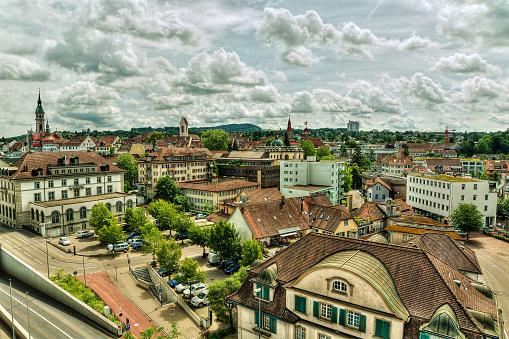 High Dynamic Range Imaging「Aerial view of Frauenfeld, Thurgau, Switzerland」:スマホ壁紙(14)