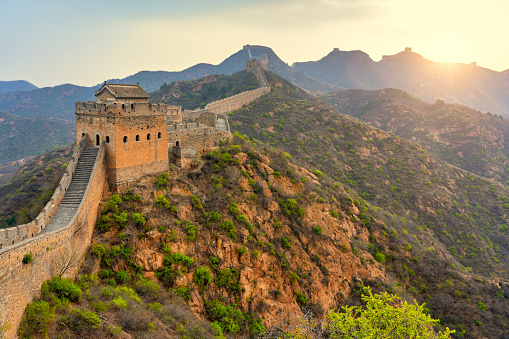 UNESCO World Heritage Site「Aerial view of The Great Wall of China」:スマホ壁紙(9)