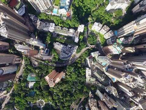 Twilight「Aerial view of Hong Kong City」:スマホ壁紙(12)