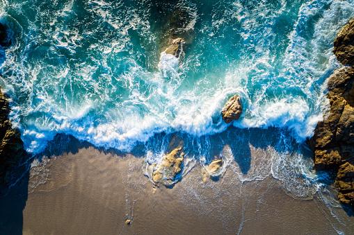Mediterranean Sea「Aerial view of beach near Lumio, Corsica, France」:スマホ壁紙(5)